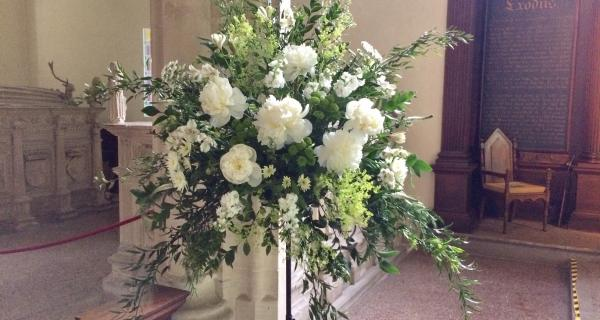 Summer Flowers with English Peonies and Stocks